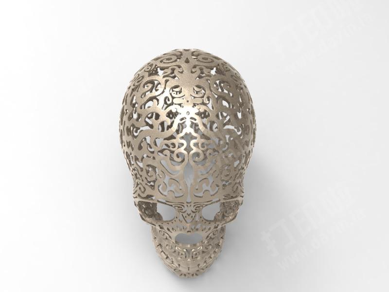 艺术镂空头骨-3d打印模型