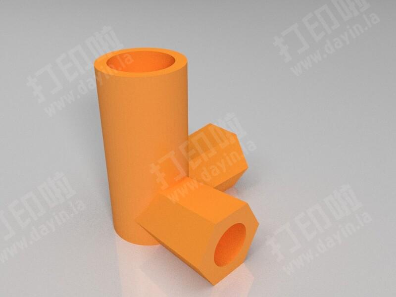 常用蚊帐三通接头-3d打印模型