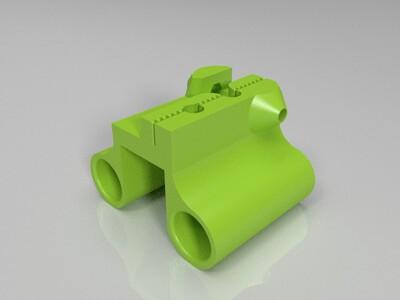 滑块直线轴承通用架-3d打印模型