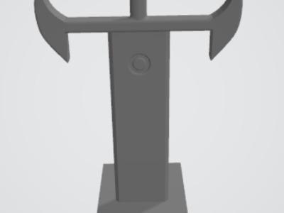 宝剑耳机加手机支架-3d打印模型