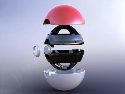 数码宝贝球-3d打印模型