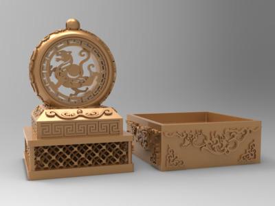 虎啸山河 印章-3d打印模型