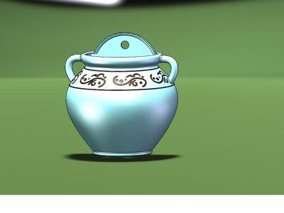 双耳壁挂花盆-3d打印模型