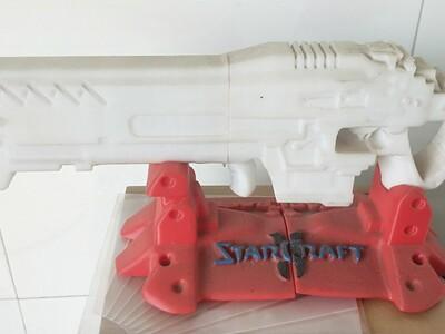 星际争霸机枪兵高斯枪和底座-3d打印模型