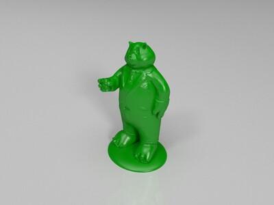 疯狂动物城-熊猫主播-3d打印模型