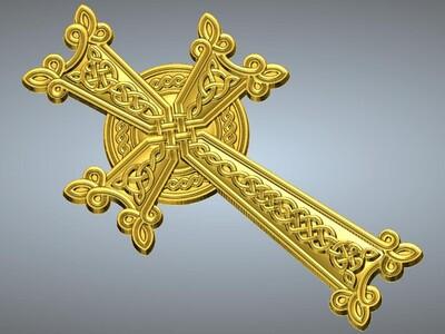 十字架吊坠(吊饰)1-3d打印模型