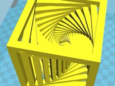 方形阶梯-3d打印模型