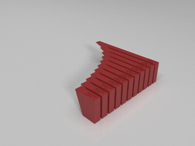 3D打印机悬空角度测试-3d打印模型