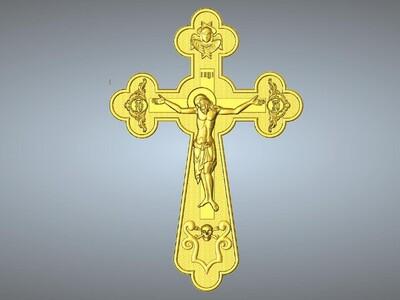 耶稣十字架吊坠(吊饰)2-3d打印模型