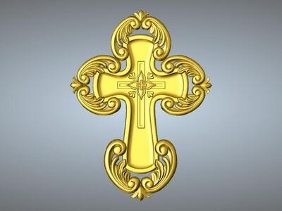 十字架吊坠(吊饰)3-3d打印模型