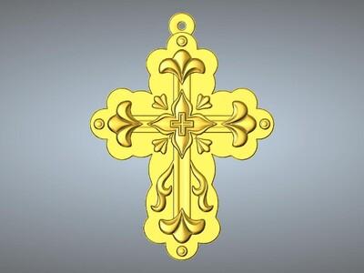 十字架吊坠(吊饰)4-3d打印模型