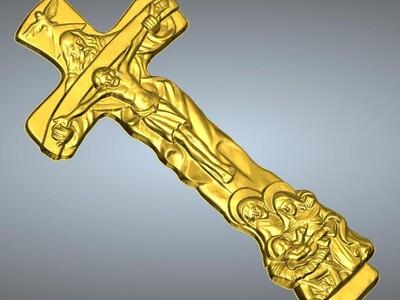 耶稣十字架吊坠(吊饰)5-3d打印模型