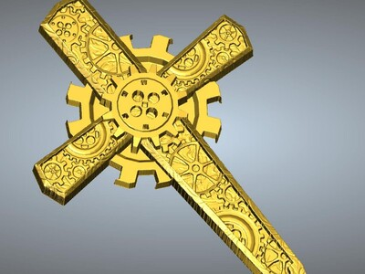 十字架吊坠(吊饰)8-3d打印模型