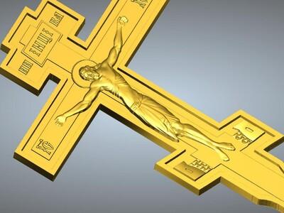 耶稣十字架吊坠(吊饰)9-3d打印模型