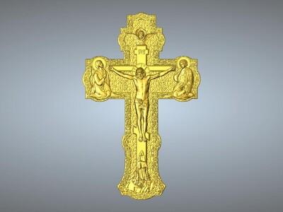 耶稣十字架吊坠(吊饰)11-3d打印模型