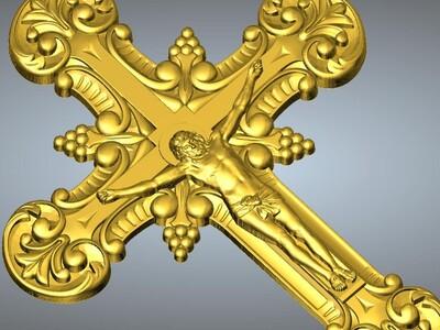耶稣十字架吊坠(吊饰)12-3d打印模型