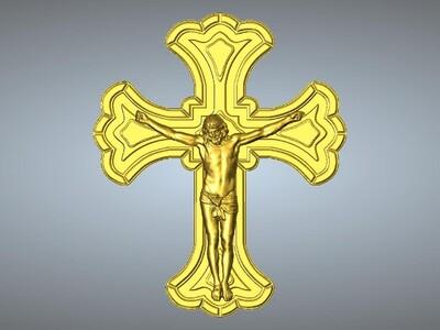 耶稣十字架吊坠(吊饰)15-3d打印模型