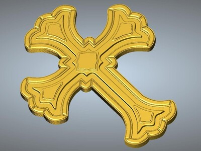 十字架吊坠(吊饰)16-3d打印模型