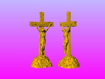耶稣十字架吊坠(吊饰)17-3d打印模型
