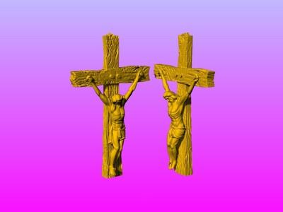 耶稣十字架吊坠(吊饰)18-3d打印模型
