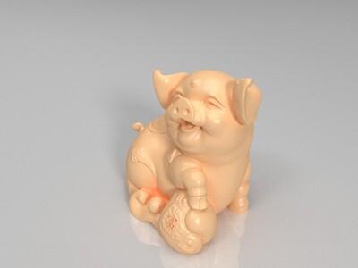 猪大吉-3d打印模型