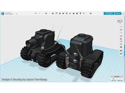 帅气逼人组装坦克-3d打印模型