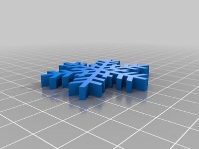 雪花吊坠-3d打印模型