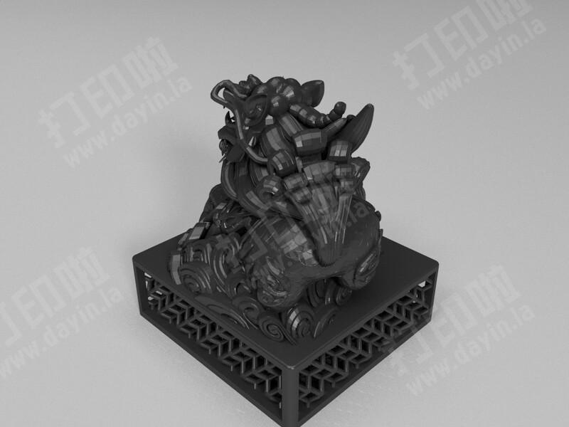 麒麟印章-3d打印模型