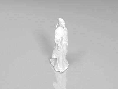 李白-3d打印模型