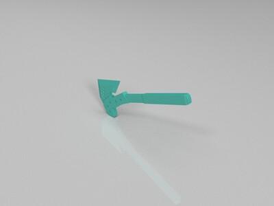 cf手斧-3d打印模型