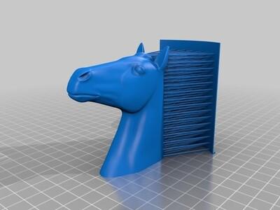 毛发马头-3d打印模型