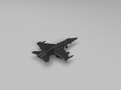 F15大黄蜂战斗机-3d打印模型