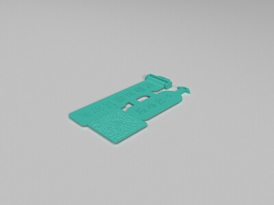 汽车拖车扣飘带广告-3d打印模型