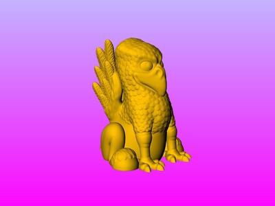 巴嘴-鹰马(不用支撐 好打印)-3d打印模型