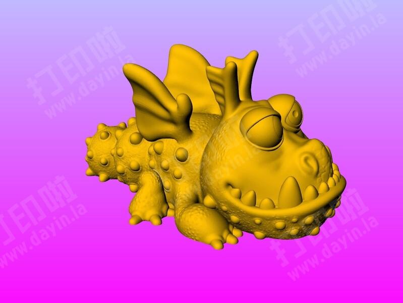 可爱飞龙 (不用支撐 好打印)-3d打印模型