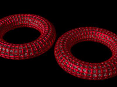 镂空圆环模型-表面圆滑效果,欢迎定制-3d打印模型