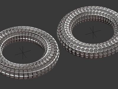 镂空圆环模型-硬边效果,欢迎定制-3d打印模型