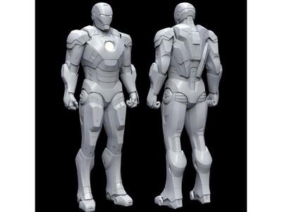 钢铁侠模型,3D打印优化版本,搬运-3d打印模型