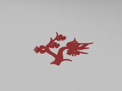 鸟窗花-3d打印模型