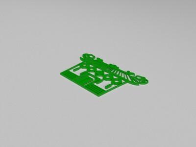 房子窗花-3d打印模型