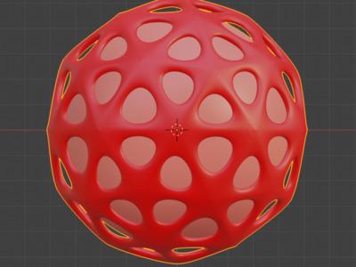 镂空圆球套实心圆,欢迎定制-3d打印模型