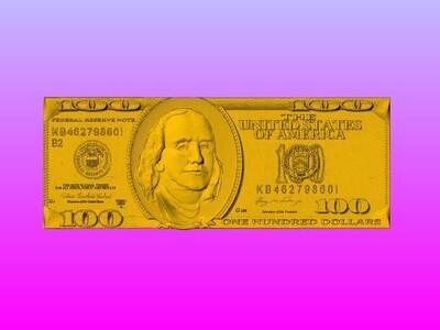 美元100-3d打印模型