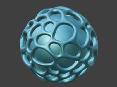 圆球不规则镂空效果,欢迎定制-3d打印模型