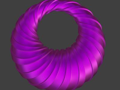 不同半径圆艺术模型,欢迎定制-3d打印模型