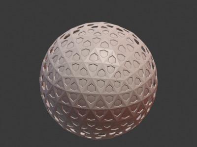 带五角星的镂空圆球模型,欢迎定制-3d打印模型