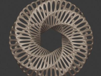 镂空六边圆环模型,欢迎定制-3d打印模型