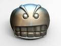 愤怒的表情戒指-3d打印模型