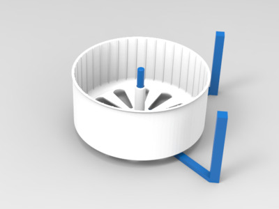 仓鼠跑轮支架-3d打印模型