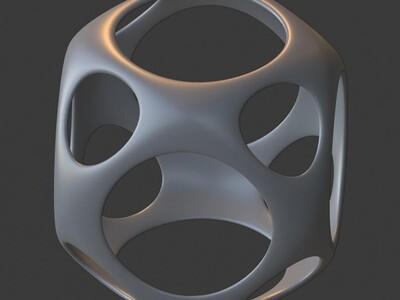 镂空立方体雕塑摆件-内带胆,欢迎定制-3d打印模型