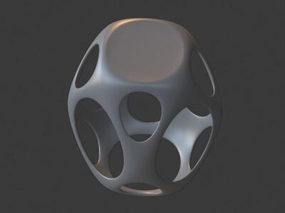 镂空立方体座凳,欢迎定制-3d打印模型